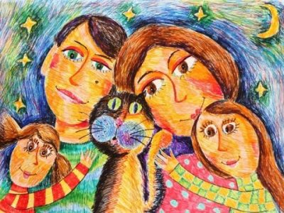 Конкурс рисунка для приемных семей Иркутска.